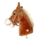 Pink Papaya Steckenpferd, Mr. Brownie, braunes Steckenpferd aus Plüsch mit blonder Mähne und Soundeffekten - 1