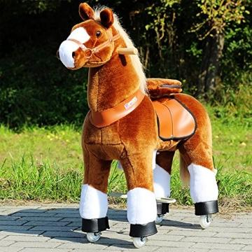 """Ponycycle """" Amadeus """" Pferd hell braun, Pony auf Rollen fahrendes Schaukelpferd und Kuscheltier für Ihr Kind von MyPony (Medium) - 1"""