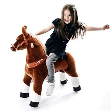 """Ponycycle """" Mister Ed """" Pferd braun, Pony auf Rollen fahrendes Schaukelpferd und Kuscheltier für Ihr Kind von MyPony (Medium) - 1"""