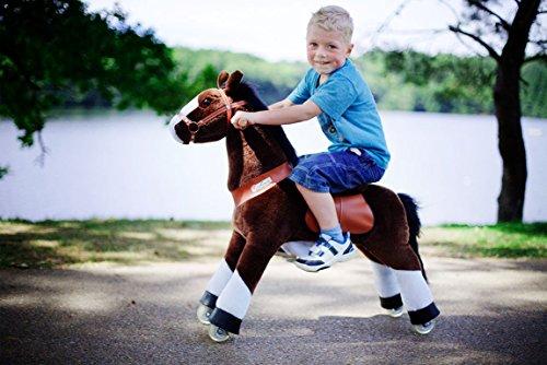 Ponycycle  Mister Ed  Pferd braun Pony auf Rollen fahrendes Schaukelpferd und Kuscheltier f/ür Ihr Kind von MyPony Small