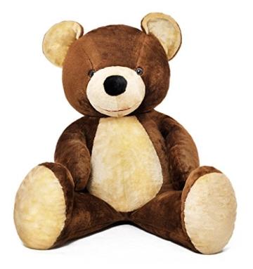 Riesen Teddybär Plüschtier Stofftier braun 155cm groß - 3