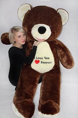 Der XXL Riesen Teddy mit Herz und I LOVE U auf der Brust