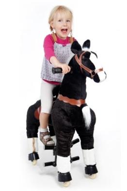 Spielzeug-Pferd Galoppo® zum Reiten für Kinder in schwarz - 1