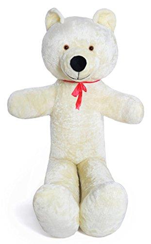 Riesen Teddybär Plüschbär Kuscheltier weiß 205cm groß - 5